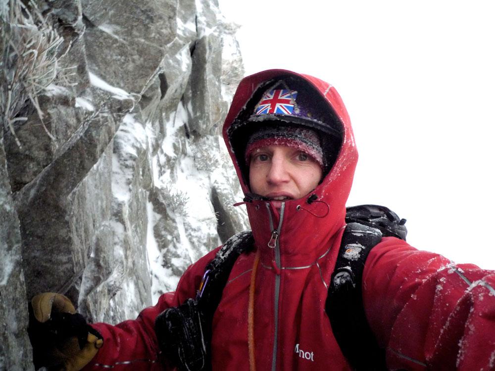 Marmot Genesis softshell jacket: Toby ice climbing in North Wales, 134 kb