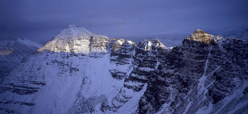 Spidean a' Choire Leith and the Am Fasarinen Pinnacles from the Northern Pinnacles of Liathach  , 104 kb