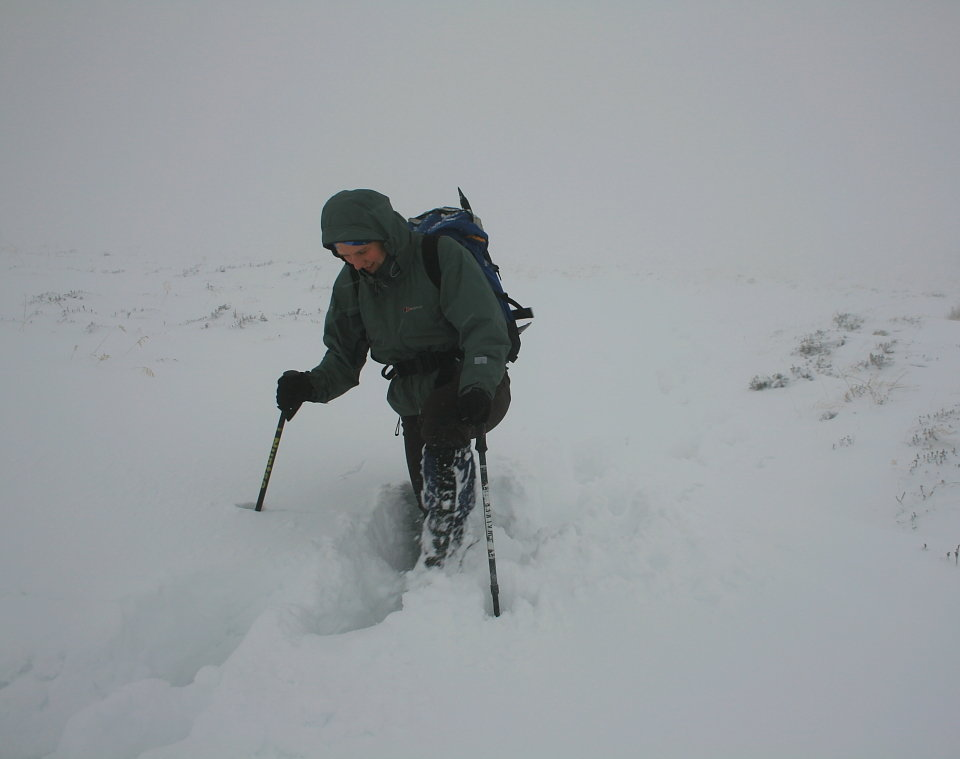 Challenging visibility and conditions on Ben Vrackie - an easy hill in summer, but not always so in winter, 44 kb
