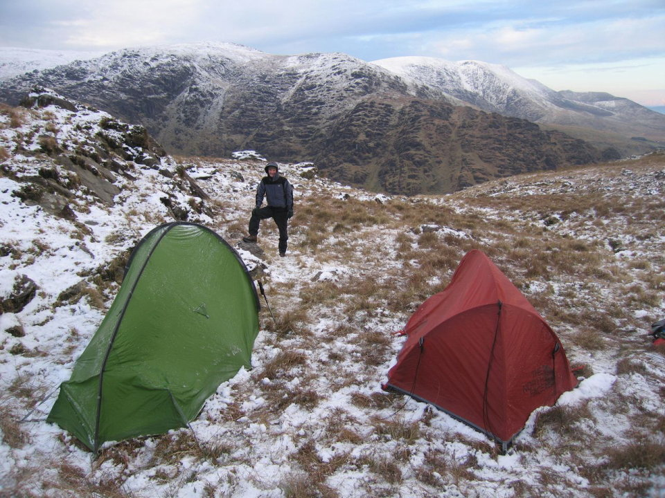 Winter camping above Cloonaghlin, Co.Kerry, 197 kb