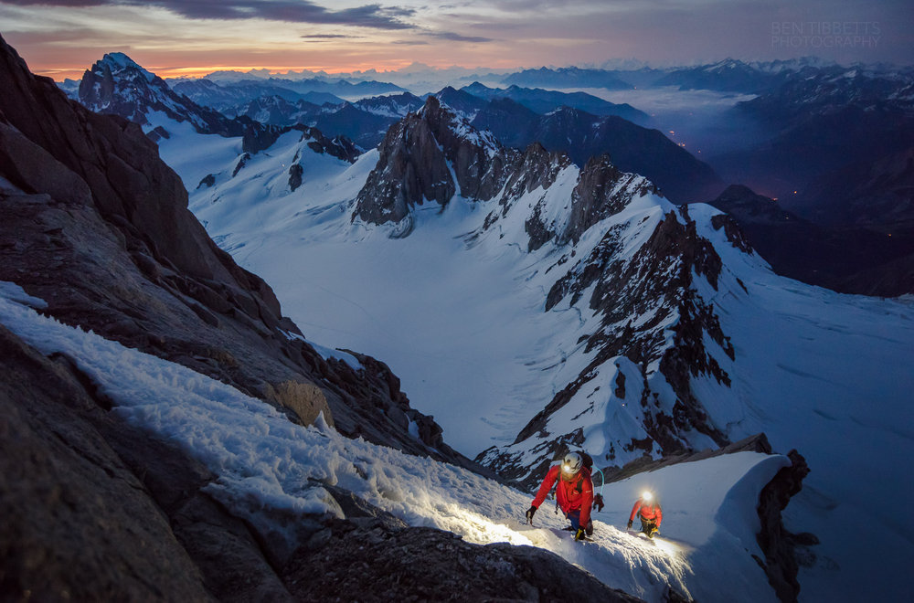 Climbing the Kuffner Arete at dawn, 203 kb