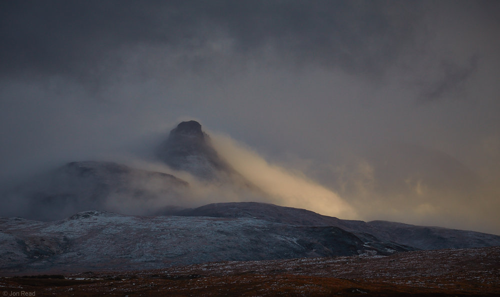 Snow storm clearing, Stac Pollaidh, 72 kb